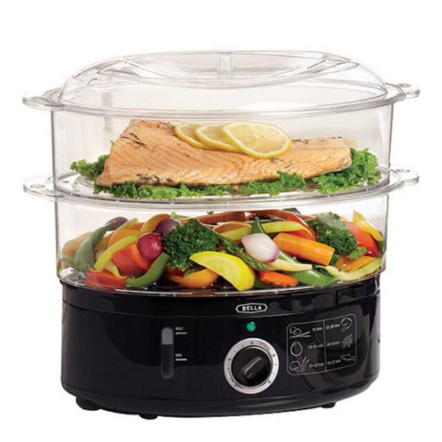 Electric Food Steamer Vegetable Meat Rice Steaming Cooker Bowl Cooking 7.4  qt