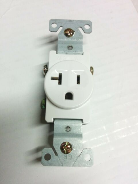 1 Pc) Single Receptacle 20 Amp 20a 125v AC Outlet 2 Pole 3 Wire ...