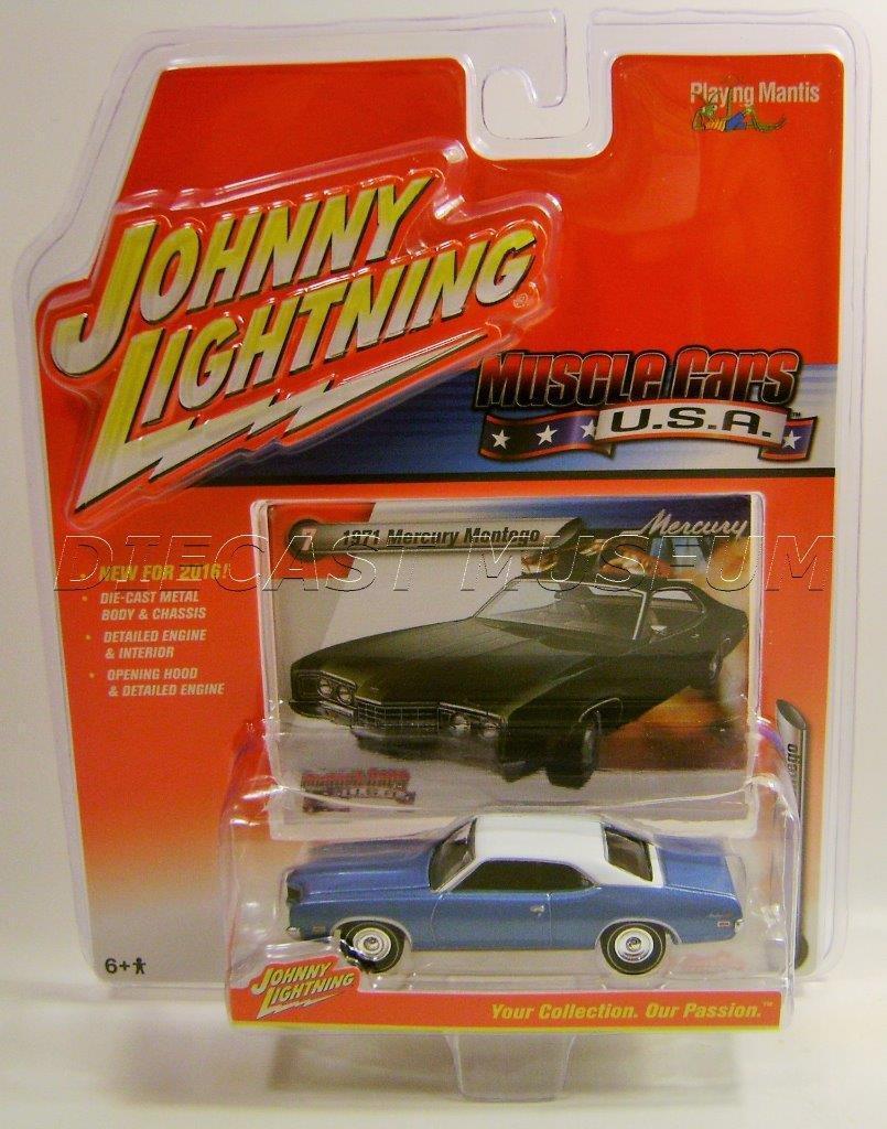 1971 Mercury Montego Blue Muscle Cars USA Diecast Johnny Lightning ...