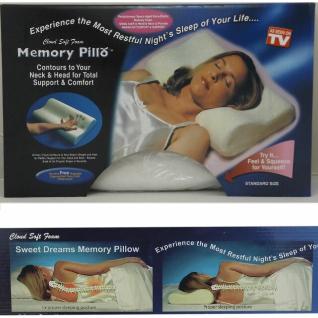 CONTOUR MEMORY FOAM PILLOW WITH COVER ORTHOPAEDIC HEAD NECK BACK SUPPORT PILLOWS