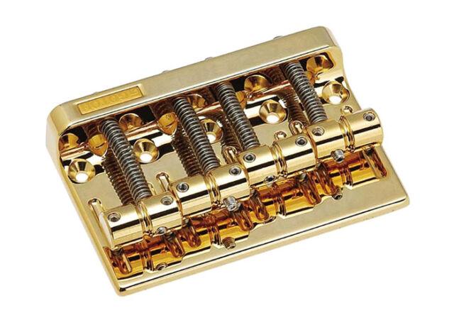 Gotoh Bass Guitar Bridge • 201B-4 • Gold