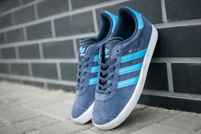 NUOVO Adidas Originals Gazelle bb2504 Bambini Da Donna Sneakers Scarpe da ginnastica Blu Blue