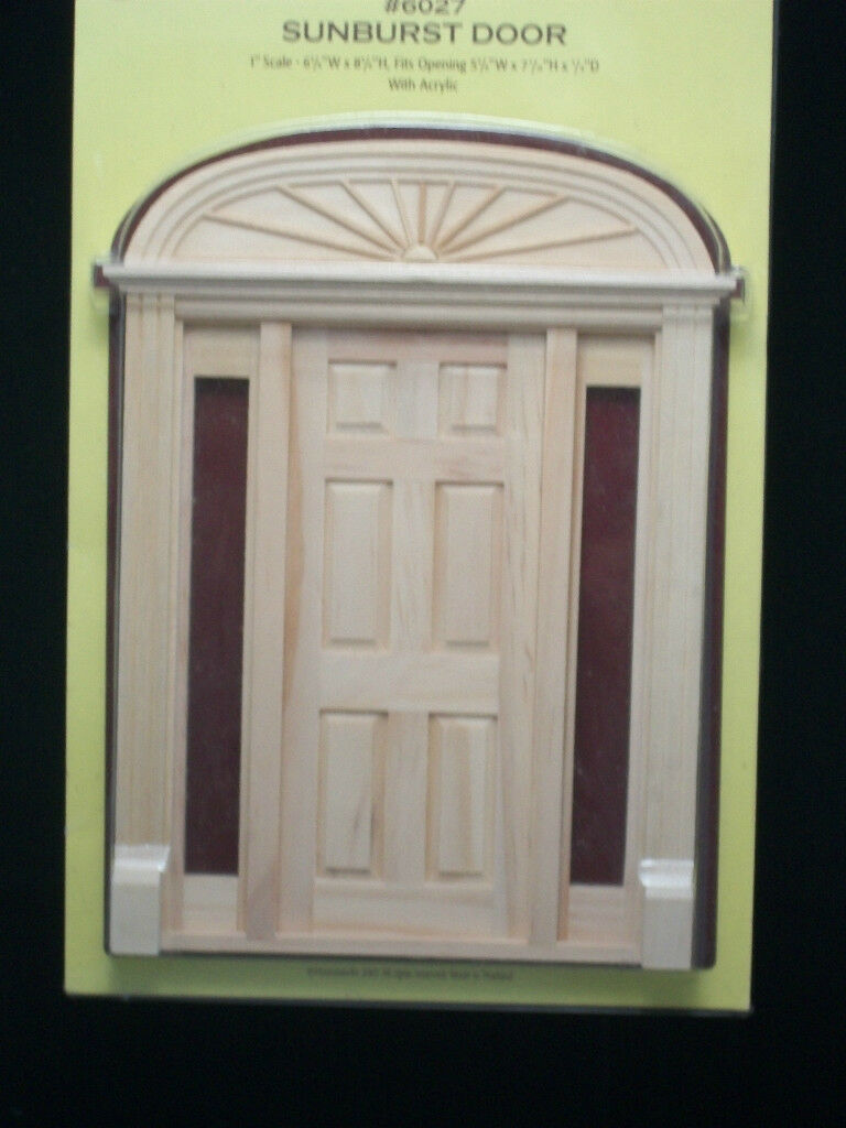 $res.content.global.inflow.inflowcomponent.cancel & Sunburst Door 6027 Side Lights Dollhouse Miniature 1pc 1/12 Scale ...