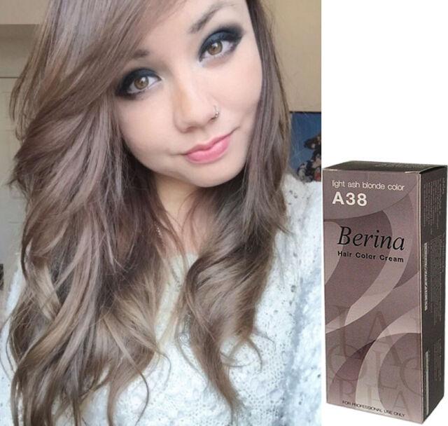 Berina A38 Light Ash Blonde Color Professional Permanent Hair Dye
