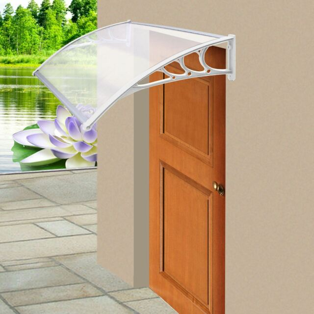 White Door Canopy Awning Rain Shelter Front Back Porch Outdoor Shade Patio Roof & Front Door Porch | eBay Pezcame.Com