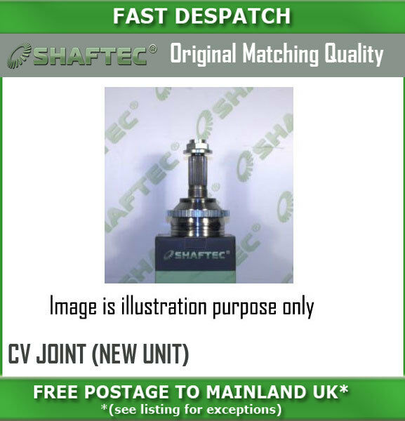 CV354N 3726 OUTER CV JOINT (NEW UNIT) FOR OPEL FRONTERA 2.0 10/91-12/98