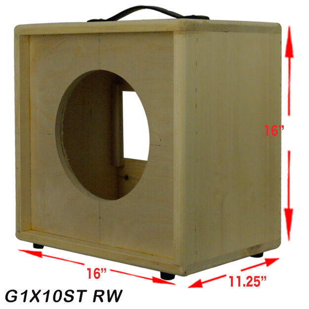 1x10 Solid Pine Raw Wood Extension Guitar Speaker Empty Cabinet ...