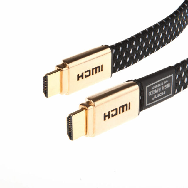 1m-15m Premium Gold v2 High Speed 2160p Gold HDMI Video Cable HD HDTV Lead 3D