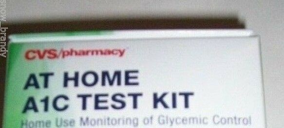 cvs at home ac test kit tests monitor glycemic control  cvs at home a1c test kit 2 tests monitor glycemic control deatails