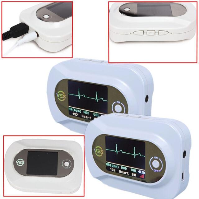 NEW CE/FDA Visual Electronic Stethoscope stethophone ECG+PR+SpO2,free shipping