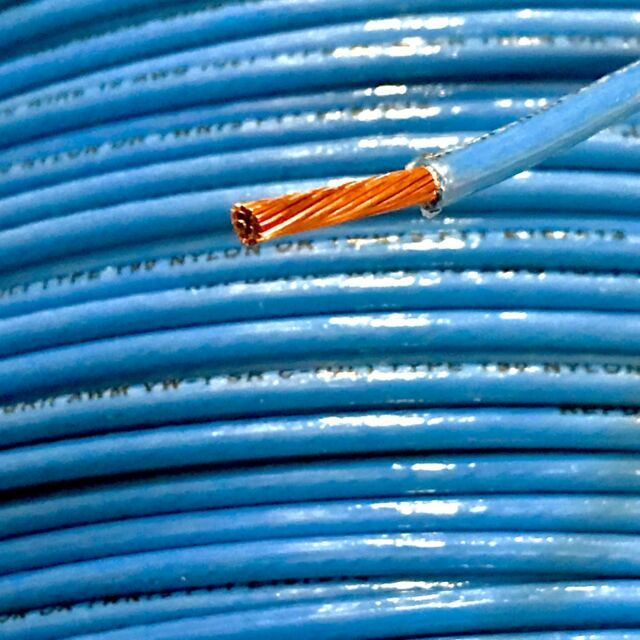 25\' THHN 10 AWG Gauge Blue Nylon Stranded Copper Building Wire | eBay