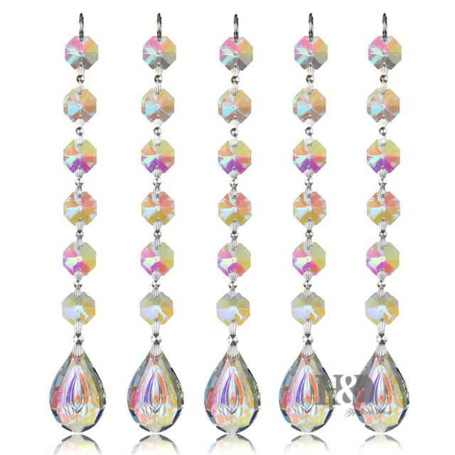 10pcs crystal prisms suncatcher rainbow maker chandelier part home 10pcs crystal prisms suncatcher rainbow maker chandelier part home decor 38mm aloadofball Gallery