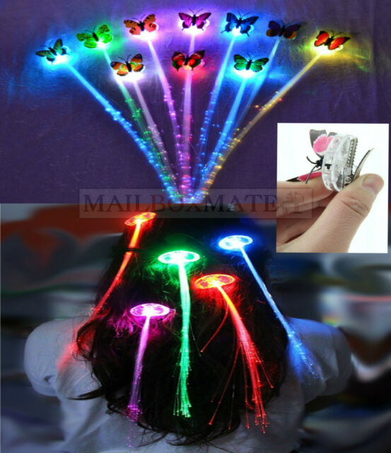 Led light up hair extension braids clips girls rave party pony led light up hair extension braids clips girls rave party pony tail fibre optic pmusecretfo Choice Image