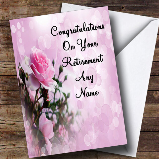 Pale pretty pink rose personalised retirement greetings card ebay pale pretty pink rose personalised retirement greetings card m4hsunfo