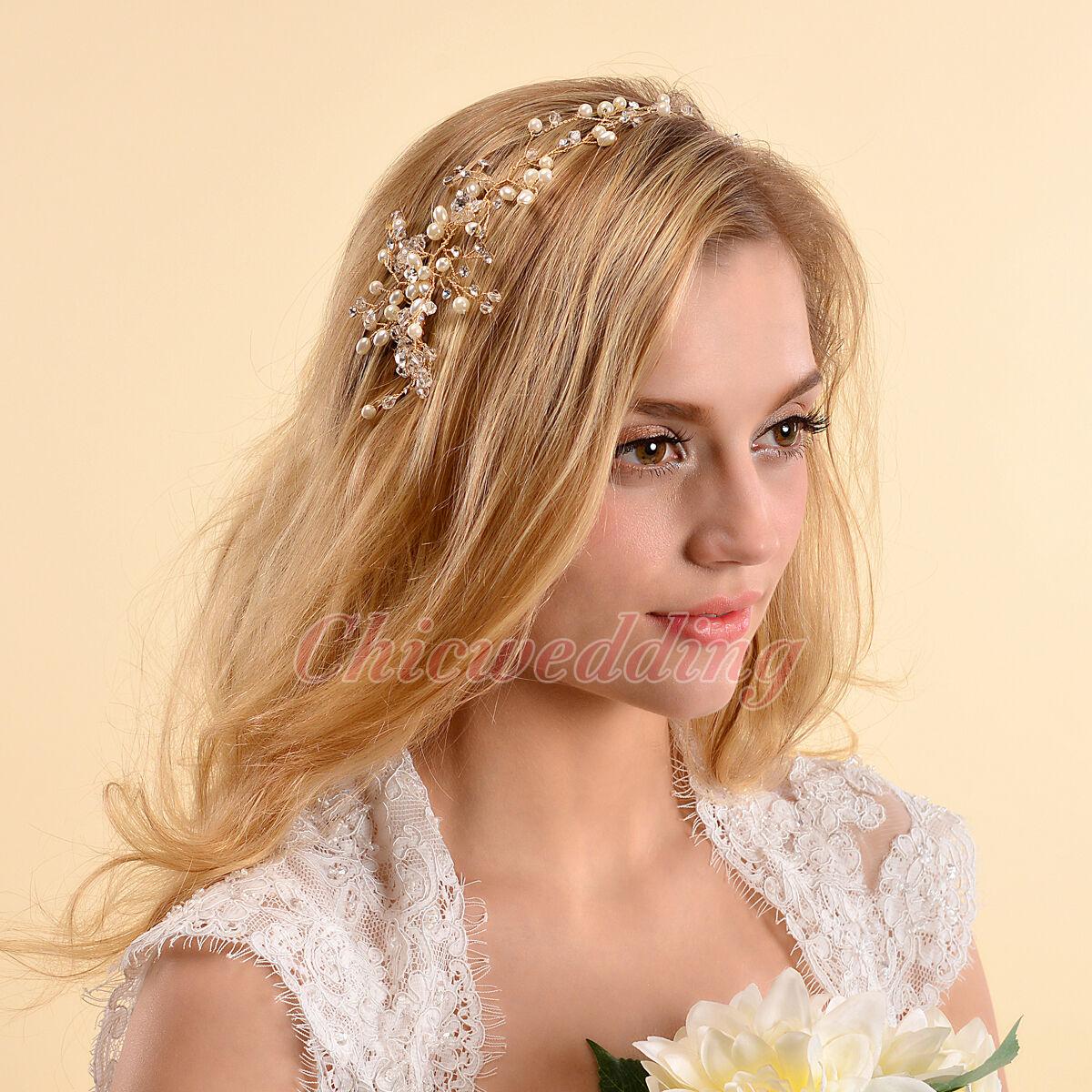 Luxury gold flower bridal tiara crown headband veil hair accessory picture 1 of 7 izmirmasajfo