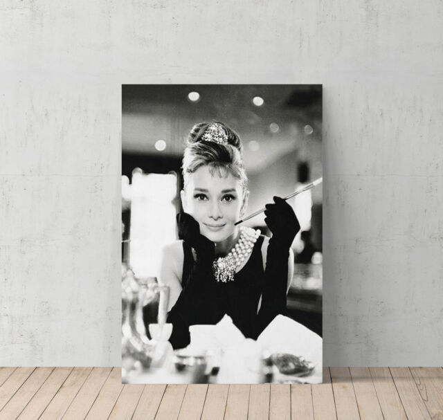 Audrey Hepburn Canvas Print Wall Art Home Decor Framed XMAX ...
