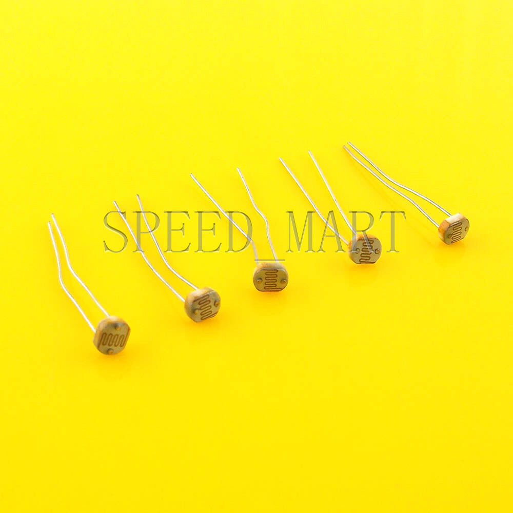5 Pcs Photoresistor Ldr Cds 5mm Light Dependent Resistor Sensor For Beginners In Electronics Picture 1 Of 3
