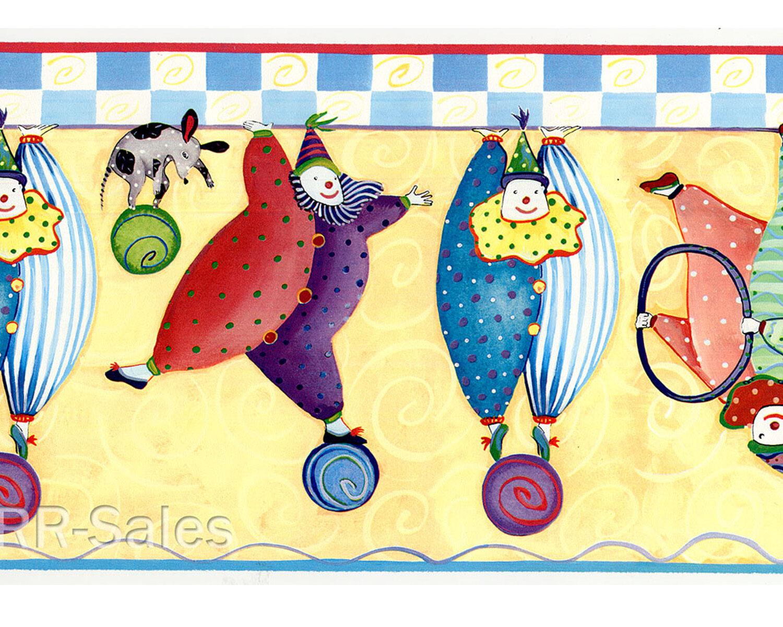 Wallies Dana Simpson Bumble Tumble Clown Circus Wallpaper Borders 2 ...