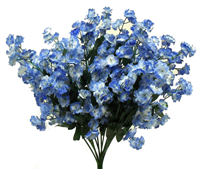 12 Baby\'s Breath Light Blue Gypsophila Silk Wedding Flowers ...