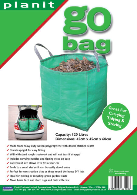 GO BAG - 120L Heavy Duty Garden Bag. Great for waste and storage.