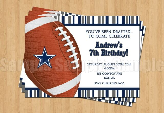 10 dallas cowboys birthday party football super bowl printed 10 dallas cowboys birthday party football super bowl printed invitations any age filmwisefo Gallery