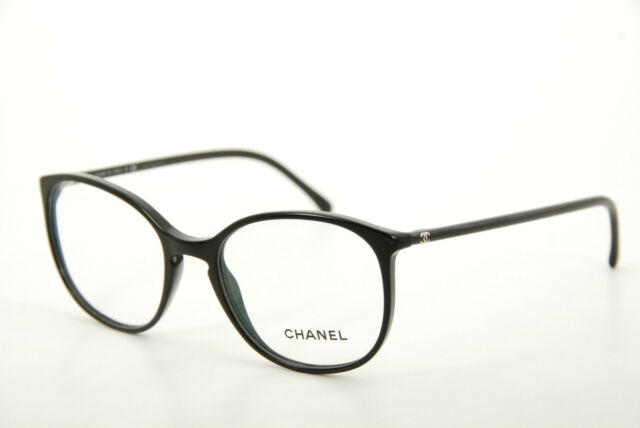 new authentic chanel 3282 c501 black 52mm frames eyeglasses rx italy wserial - Ebay Eyeglasses Frames