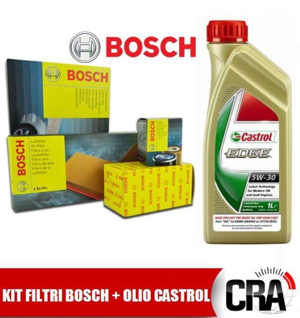Kit de mantenimiento aceite motor CASTROL BORDE 5W30 5 LT 4 FILTROS BOSCH