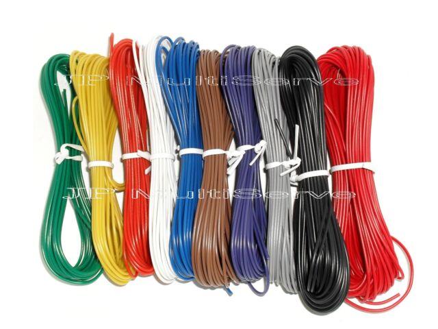 10 Color Stranded 24 Gauge Electrical Wire Kit 196ft Total | eBay
