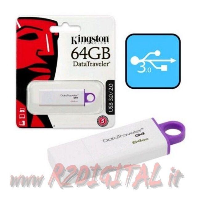 USB STICK DTIG4 KINGSTON 64 GB USB 3.0 STIFT HOCH GESCHWINDIGKEIT ARCHIV DATEN