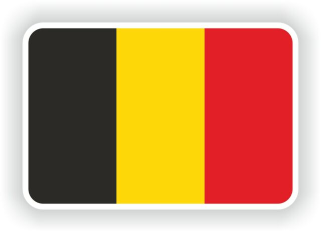 Belgium belgique flag sticker bumper stickers belge car helmet bike truck laptop