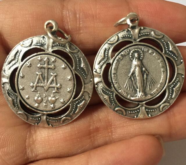 Lovely silver catholic mary magdalene virgin medal rosary pendant lovely silver catholic mary magdalene virgin medal rosary pendant italy mozeypictures Gallery