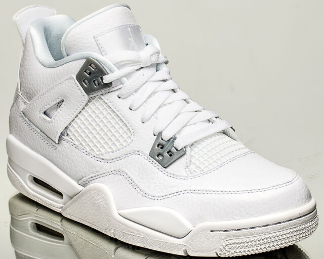 Air Jordan 4 Retro BG Pure Money youth lifestyle shoes NEW white 408452-100