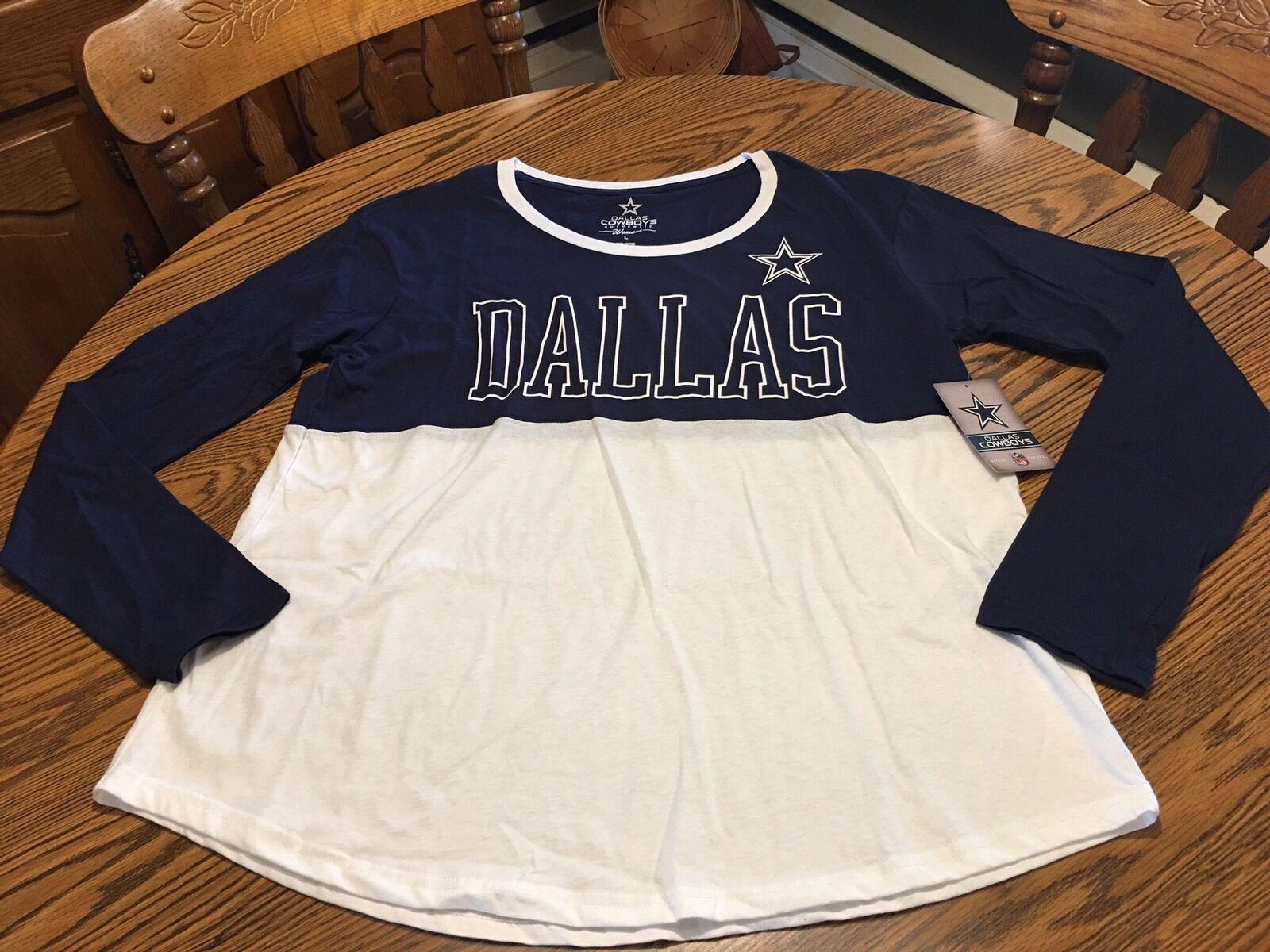 new style ef73e c45fe Dallas Cowboys Womens Long Sleeve Shirts – EDGE Engineering ...