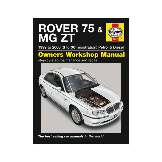 haynes owners workshop manual rover 75 mg zt 1999 2006 petrol diesel rh ebay com Polaris Repair Manual Haynes Auto Repair Manuals