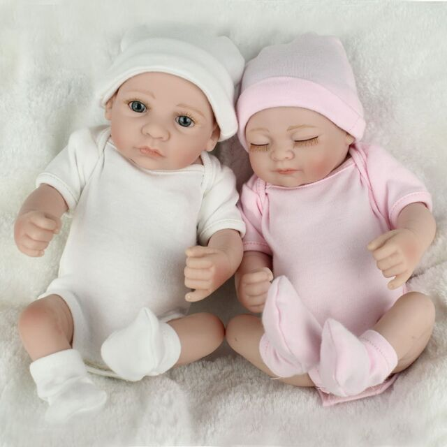 Twins Baby Dolls Lifelike Newborn Babies Full Body Vinyl