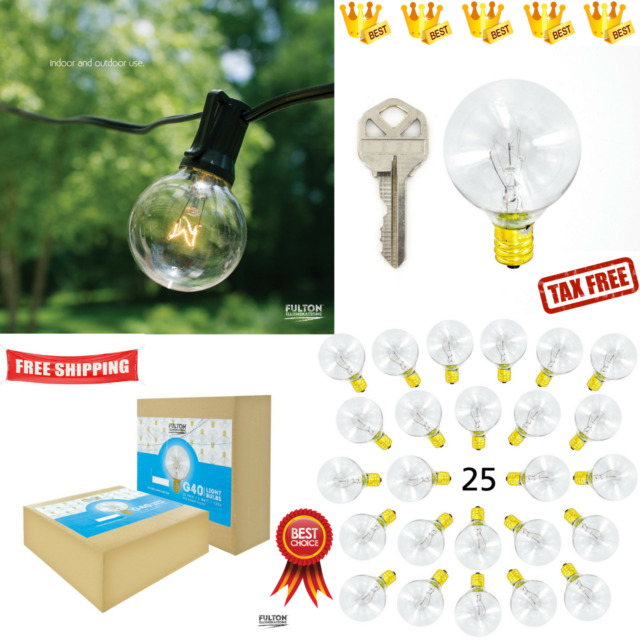 Replacement Bulbs For String Lights Gorgeous G60 Replacement Bulbs Clear Globe Bulbs For Outdoor String Lights