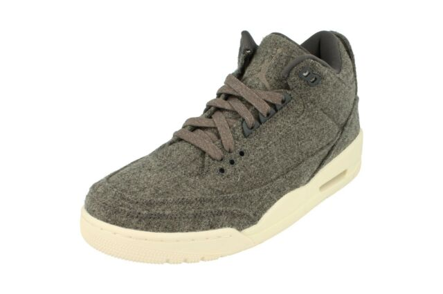 Da Uomo Nike Jordan 3 Retr Lana 854263004Grigio Bianco Scarpe Da Ginnastica