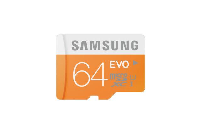 Samsung EVO 64GB Speicherkarte Micro SDXC  UHS-I Class 10 bis zu 48MB/s SD XC