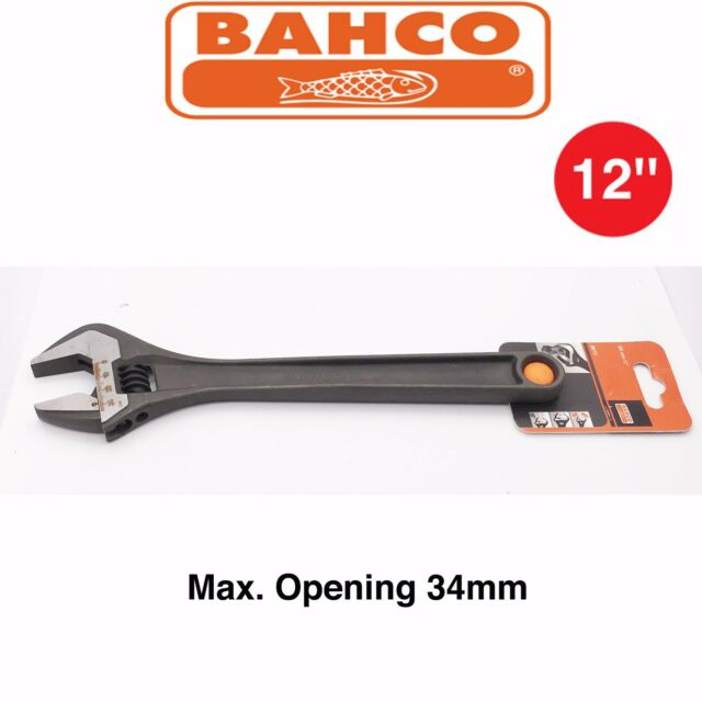 BAHCO 8073  12'' Black High Quality Adjustable Wrench