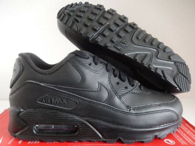 mens nike air max 90 black leather