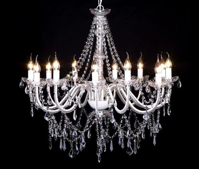 # vidaXL Leuchte Kronleuchter Lüster Deckenleuchte Hängelampe Glas 12-flammig