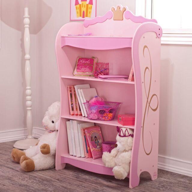 Kidkraft Kids Girls Pink Princess Bookcase Book Shelf