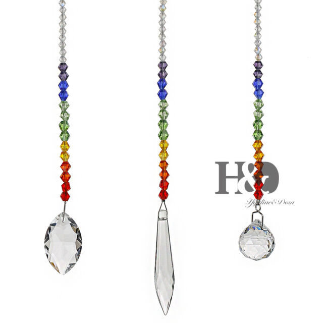 Set 3 rainbow maker crystal suncatcher prism pendant wedding window set 3 rainbow maker crystal suncatcher prism pendant wedding window garden decor aloadofball Image collections