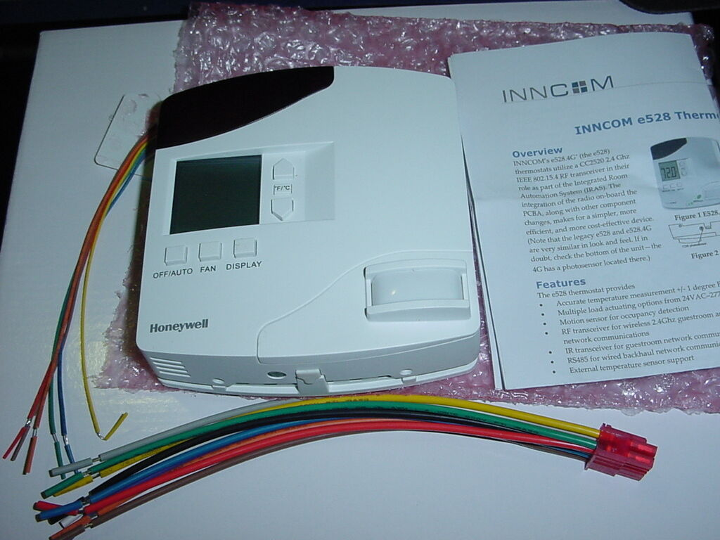 Inncom E4 7 Manual Product User Guide Instruction Room Wiring Diagram Comcast Elsalvadorla Thermostat E528