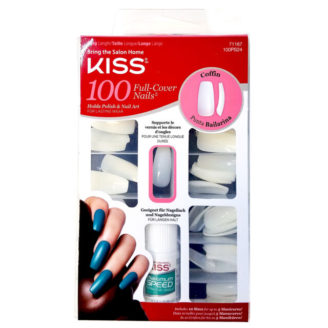 Kiss 100pc full cover nails holds polish nail art coffin 10 sizes kiss ballerina coffin 100 tips 71167 100ps24 long full cover nails durable prinsesfo Choice Image