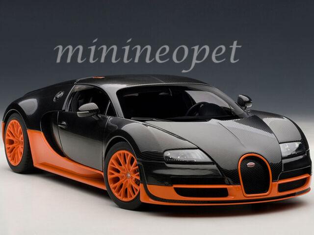 autoart bugatti veyron super sport carbon blackorange side skirts 70936 ebay. Black Bedroom Furniture Sets. Home Design Ideas