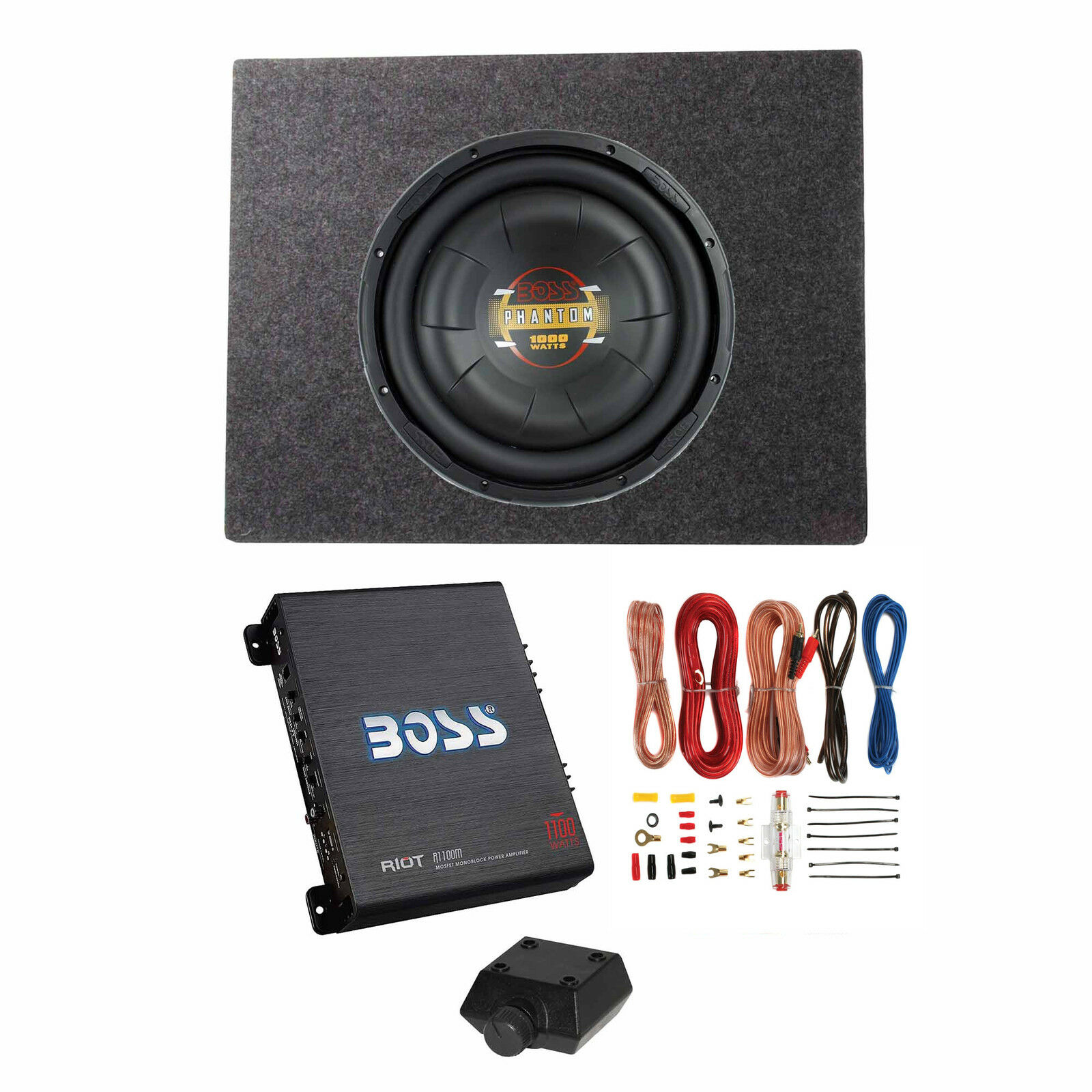 boss audio 12 inch 1000w subwoofer shallow enclosure amplifier rh ebay com