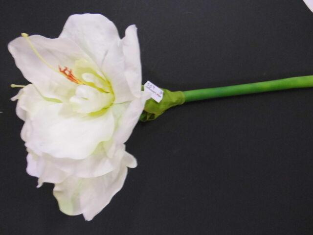 Amaryllis weiß Weihnachtsdeko Wasserstiel  66 cm Kunstblume