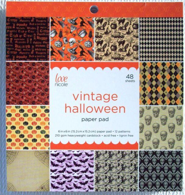 Scrapbook Paper Pad 12 Vintage Halloween 48 Heavy Cardstock Party