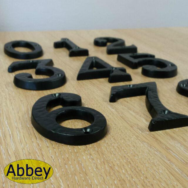 Black Iron Antique Number Metal Door Numbers 1,2,3,4,5 - Black Antique Door Numbers Cast Iron House Numerals Front Number